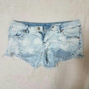 6 H&M Destroyed Denim Shorts